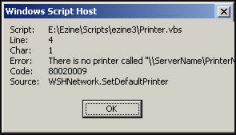 Code 80020009 Error VBScript
