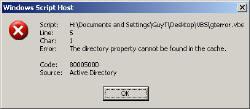 Code 8000500D error