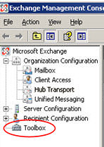 Exchange Management Console - Toolbox