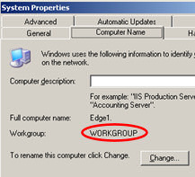Exchange 2007 Edge Server Workgroup