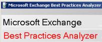 ExBPA Exchange Best Practice Analyzer