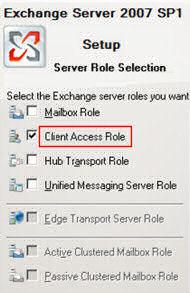 Exchange CAS Role Client Access Server