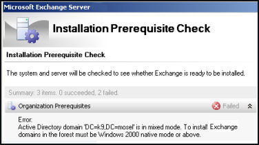 Exchange 2007 Pre-requisites