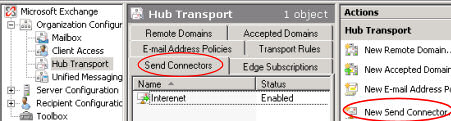 Internet Email in Exchange 2007 Server