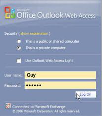 Microsoft Exchange OWA 2007