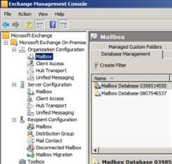 Exchange Server 2010 Server Stores