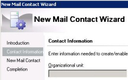 Exchange 2010 PowerShell New-Mailcontact- Create Mail Contact