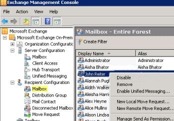 Disable-Mailbox PowerShell cmdlet