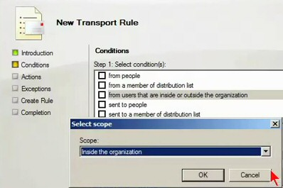 Exchange 2010 - Transport Rules