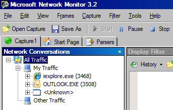 Network Monitor Conversations