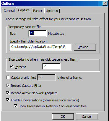 Network Monitor Options