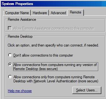 Windows Server 2008 Remote Desktop
