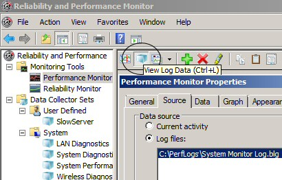 View Log Data - Performance Monitoring