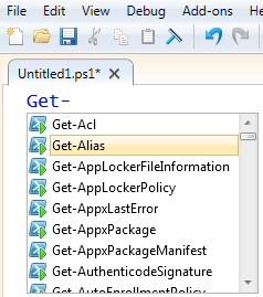 PowerShell 3.0 ISE Auto-complete intellisense
