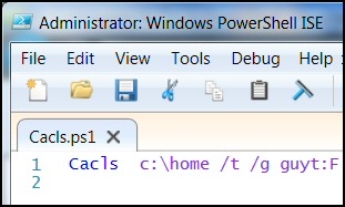 PowerShell Runs Cacls