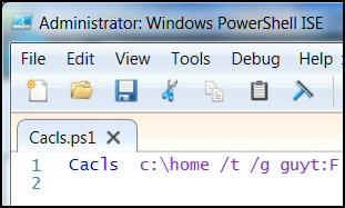PowerShell Runs Cacls