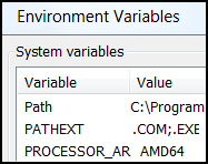 PowerShell Environmental Variables