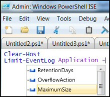 PowerShell Limit-Eventlog