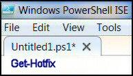 Windows PowerShell Get-Hotfix