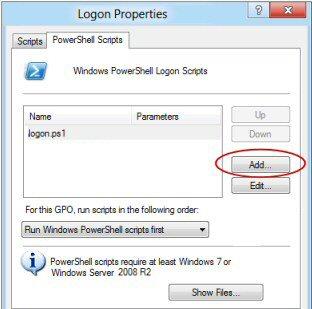 Assign PowerShell 3.0 Logon Script