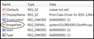 Get-ItemProperty ImagePath Registry