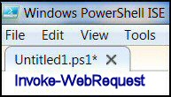 Windows PowerShell Invoke-WebRequest