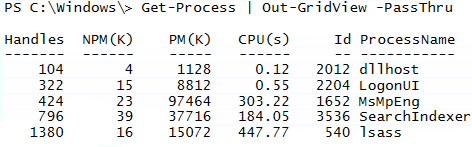 PowerShell 3.0 Out-GridView Passthru Parameter