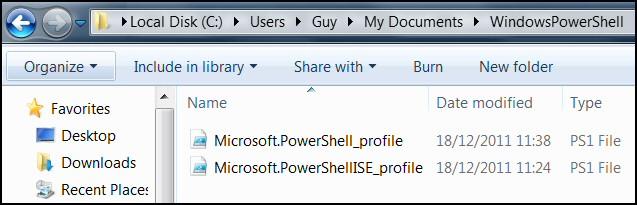 PowerShell Microsoft.PowerShellISE_profile