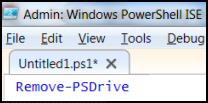 Remove-PSDrive