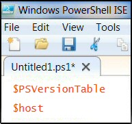 Windows PowerShell $PSVersionTable