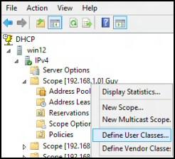 DHCP in Windows Server 2012