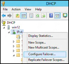 DHCP Failover Server 2012