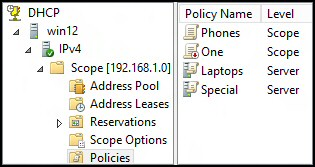 DHCP Policy in Windows Server 2012