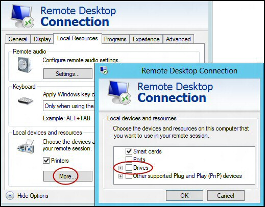 Remote Desktop Configuration Tips RDC