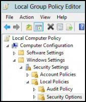 Disable the UAC Windows Server 2012