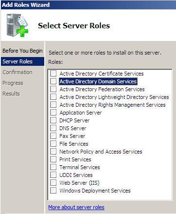 Add Roles Wizard Server 2008