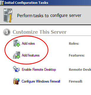 Add Roles Wizard - Windows Server 2008