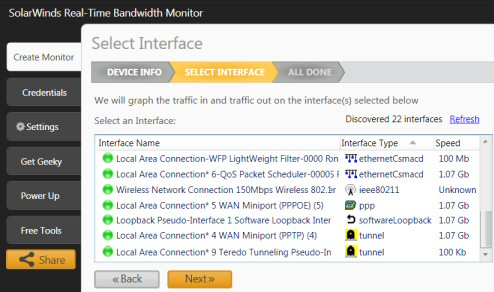 Real-Time Network Bandwidth Monitor