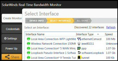Free Real-Time Bandwidth Monitor