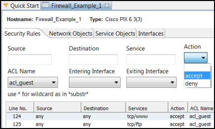 SolarWinds Firewall Browser Filter