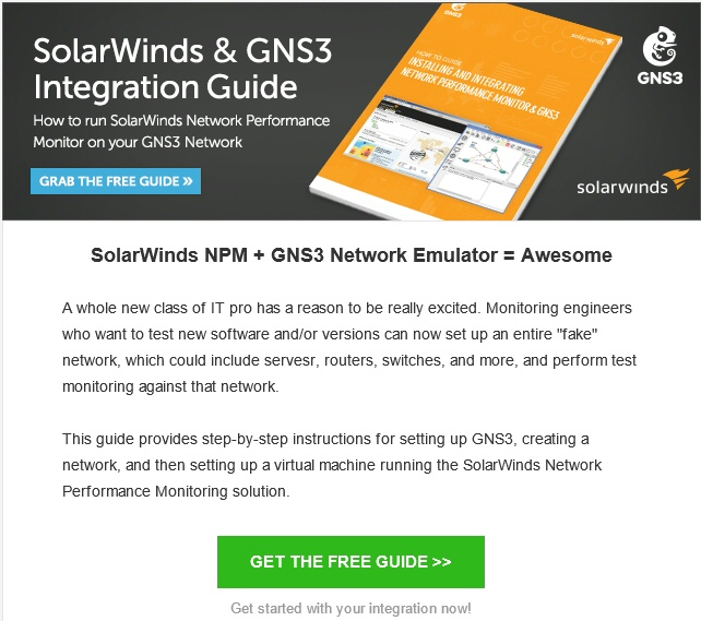 GNS3 SolarWinds NPM Guide