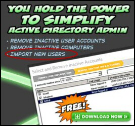 Review of SolarWinds Free Import Users Tool