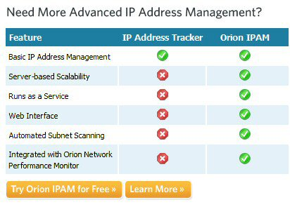 Download SolarWinds IPAM 3 IP Address Manager
