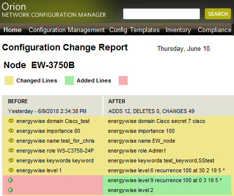 Review of NCM v7 Solarwinds Network Configuration Manager