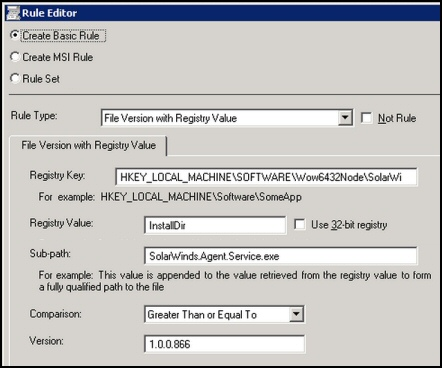 Solarwinds Patch Manager - How to create rules