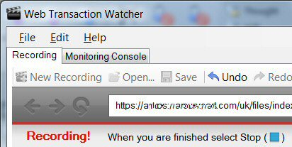 Web Transaction and Application Browser