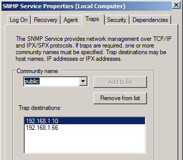 SNMP Community Public Traps