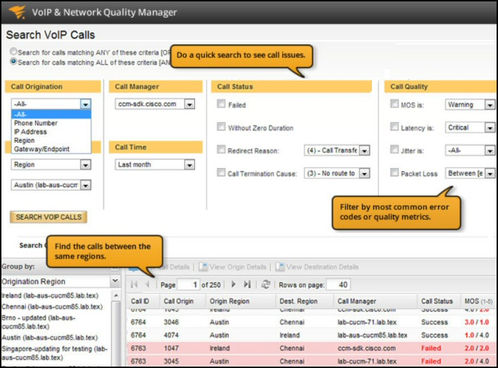 SolarWinds VoIP & Network Quality Manager