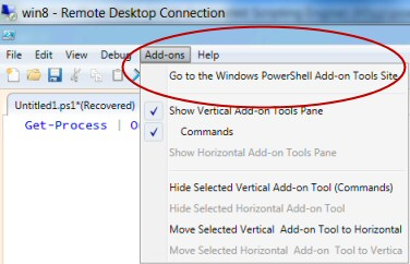PowerShell 3.0 ISE Add-ons
