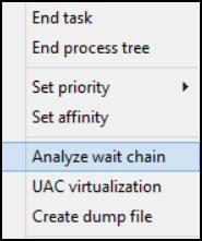 Windows 8 Task Manager Analyze Wait Chain